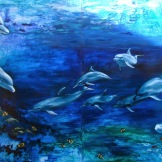 mural dolphins florencia burtonflorencia-burton-visionary art dolphins painting dolphins art