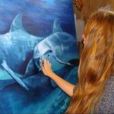 florencia-burton-1404076680-medium florencia-burton-visionary art dolphins painting dolphins art