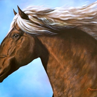 califa-florencia-burton-caballo-ruano-pintores-argentinos