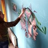 purple-lupins-processII-selina-murales-pintura-mural-florencia-burton-muralista-flora-patagonica