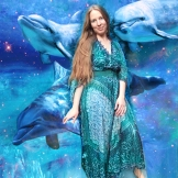 florencia burton dress and dolphins
