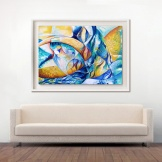 Oceano Fractal $5.000.- Acrilico sobre lienzo en bastidor sin marco Medida: 110 x 80 cm aprox.