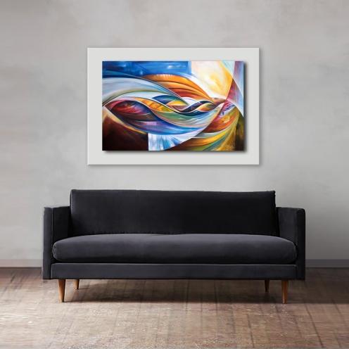 Desenredando el Alma en Dimensión abstracta $12.000.- Acrilico sobre lienzo en bastidor sin marco Medida: 100 x 60 cm aprox.
