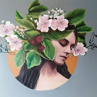 mural painting pintura mural Selina Florencia Burton A Nature Reverie Bariloche Argentina pintura muralista