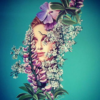 mural painting pintura mural Selina Florencia Burton Loving Flowers Kingdom Bariloche Argentina pintura muralista