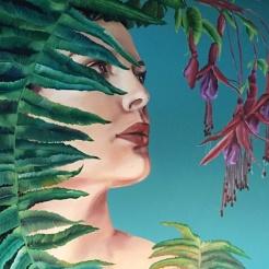 Chilco&ferns-godess-more-muse-process-begins-selina-murales-pintura-mural-florencia-burton-muralista-flora-patagonica
