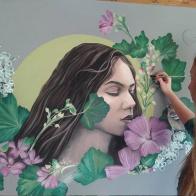 mural painting pintura mural Selina Florencia Burton Bendicion de las hadas Bariloche Argentina pintura muralista