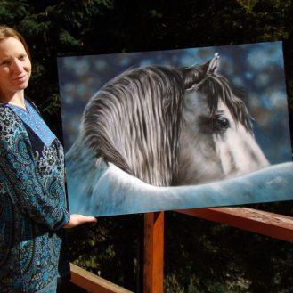 caballo_white-horse-art-painting-florencia-burton-pintores-argentinos