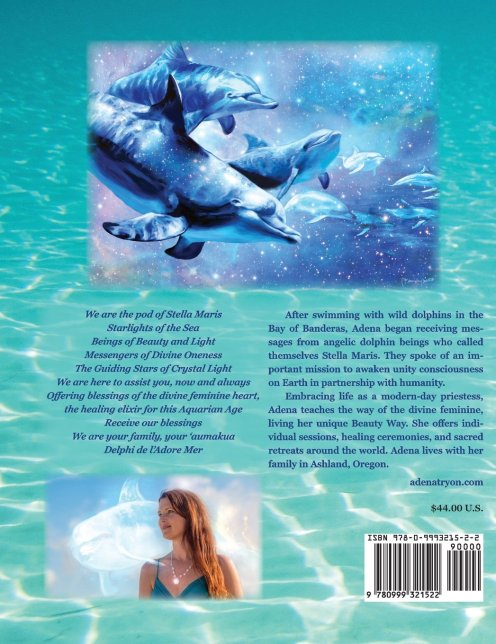 stella Maris speakes dolphin wisdom for a new world adena tryon florencia burton visionary art back cover