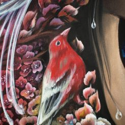 natural-beauty---red-bird-hawaiidetail-water-drops-flowers-zhotovo-russian-flowers-birdflorencia-burton