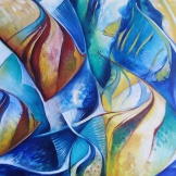 Detalle Oceano Fractal $5.000.- Acrilico sobre lienzo en bastidor sin marco Medida: 110 x 80 cm aprox.