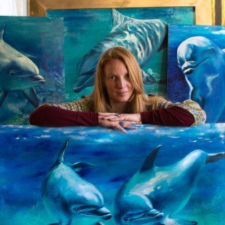 florencia-burton-visual-artis-dolphins-paintings