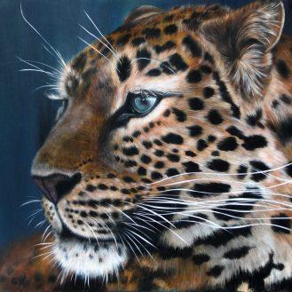 leopardo florencia burton arte hiper-realismo