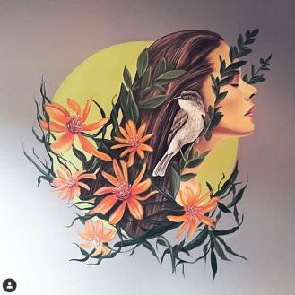 Inspiring Mutisias mural painting pintura mural Selina Florencia Burton Bariloche Argentina pintura muralista