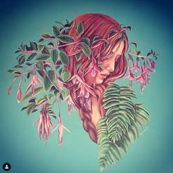 Crowned Mother mural painting pintura mural Selina Florencia Burton Bariloche Argentina pintura muralista
