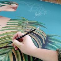 Chilco&ferns-godess-muse-Love-flora-nature-begins-selina-murales-pintura-mural-florencia-burton-muralista-flora-patagonica
