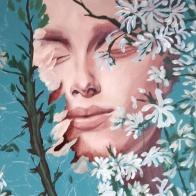 pink-lupins-process-selina-murales-pintura-mural-florencia-burton-muralista-flora-patagonica