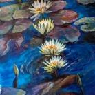 Aguas azules - Acrilico sobre lienzo en bastidor sin marco, Medida: 70 x 42 cm aprox.