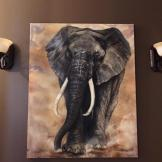 elefant wisdom keeper florencia burton visionary fine art return to nature patagonia argentina