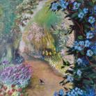 Detalle Canto de pájaro $7.000.- Acrilico sobre lienzo con marco, Medida: 40 x 50 cm aprox.