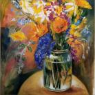 Melodia Silvestre - Óleo sobre lienzo con marco, Medida: 42 x 30 cm aprox.