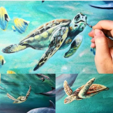 australian turtles florencia burton visionary fine art return to nature patagonia argentina