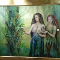 arte fantastico florencia burton visionary fine art return to nature patagonia argentina isla esmeralda sirenas