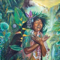 GRATITUD-GRATITUDE--cewntro-oil-painting-kauai-maori-gradmother-nature-medicine--florencia-burton-patagonia-paradise