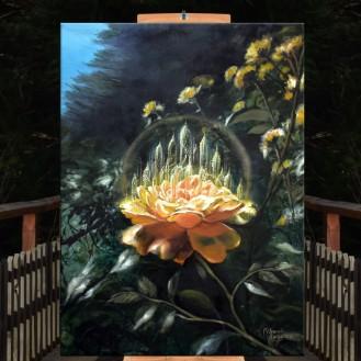 TEMPLOS DE LUZ yellow rose florencia burton atril
