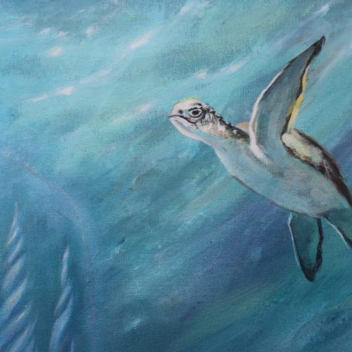 inner spark light ocean magical art turtles healing medicine