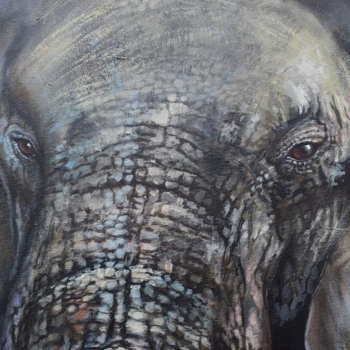 wisdom keeper florencia burton elephant art magical art magic realism
