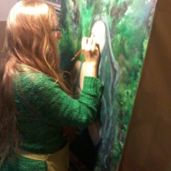 florencia-burton-painting-in-green-forest-magic-visionary-art